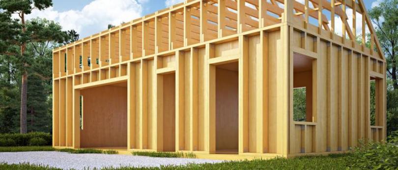 деревяна конструкція даху